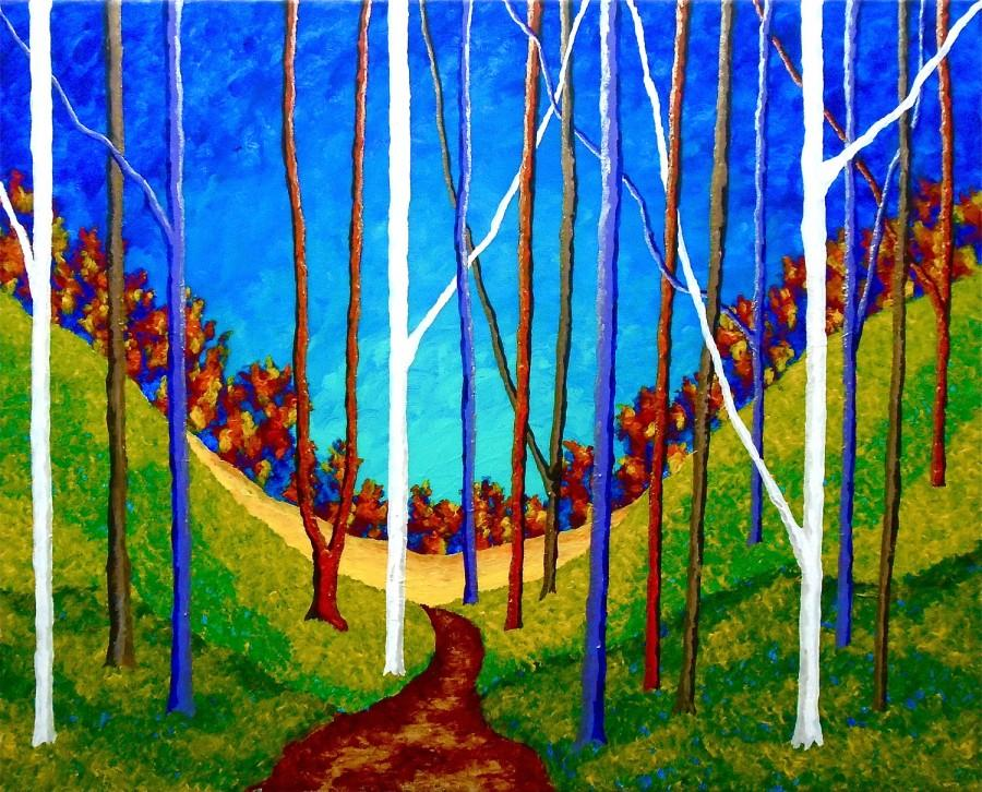 "Wedding - Twilight Woods (ORIGINAL ACRYLIC PAINTING) 16"" x 20"" by Mike Kraus"