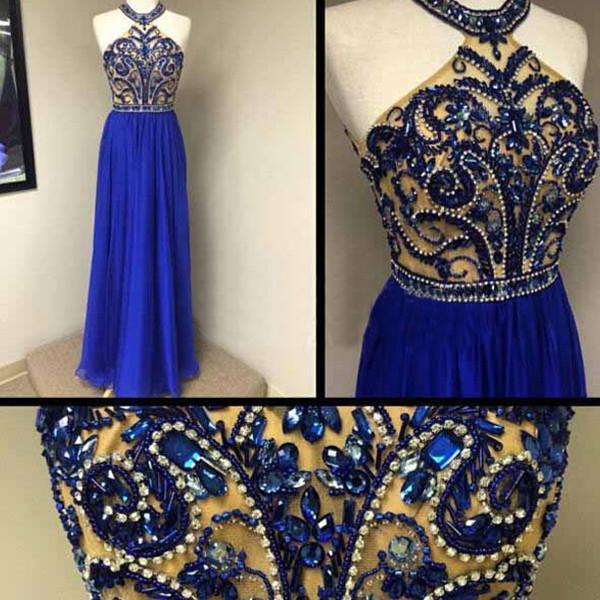 Boda - Royal blue Prom Dresses,Charming Prom Dress,Long Prom dress,2016 Prom Dress,Evening Dress,BD406