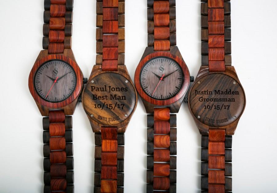 Valentines Gift, Unique present, Custom Wooden watch, Mens watches, Custom watch, Engraved gift, Personalized gifts, Wedding Gift