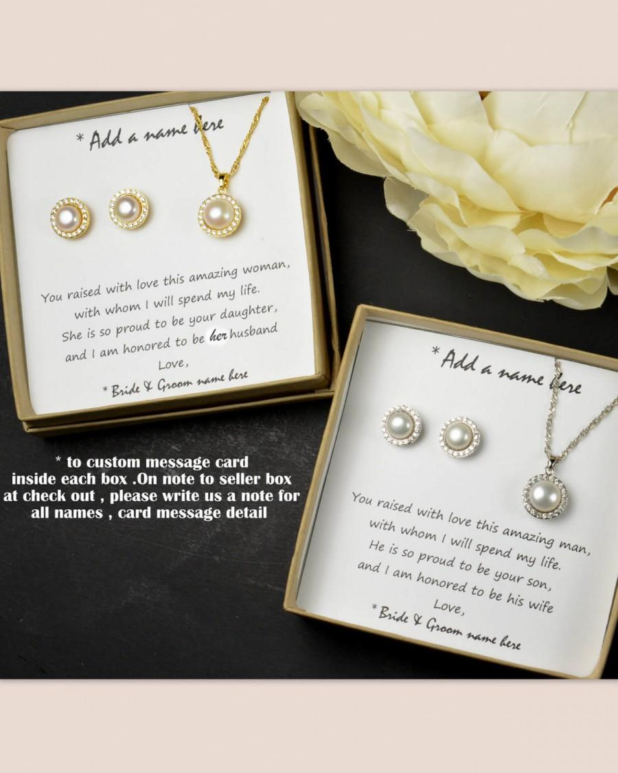 Mother Of The Groom Gift Bridesmaid Bride From Daughter Fresh Water Pearl