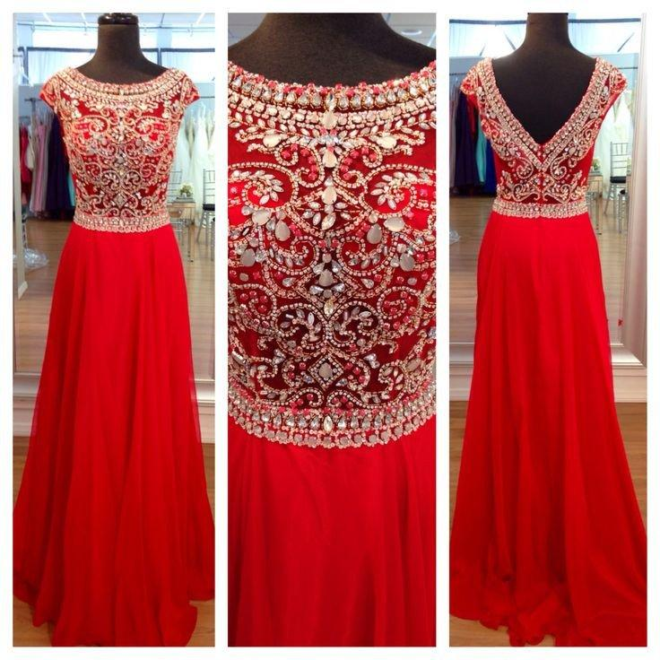 Mariage - Red Prom Dresses,Charming Prom Dresses,Rhinestone Prom Dress,Long Prom Dress, Party Prom Dress,BD138