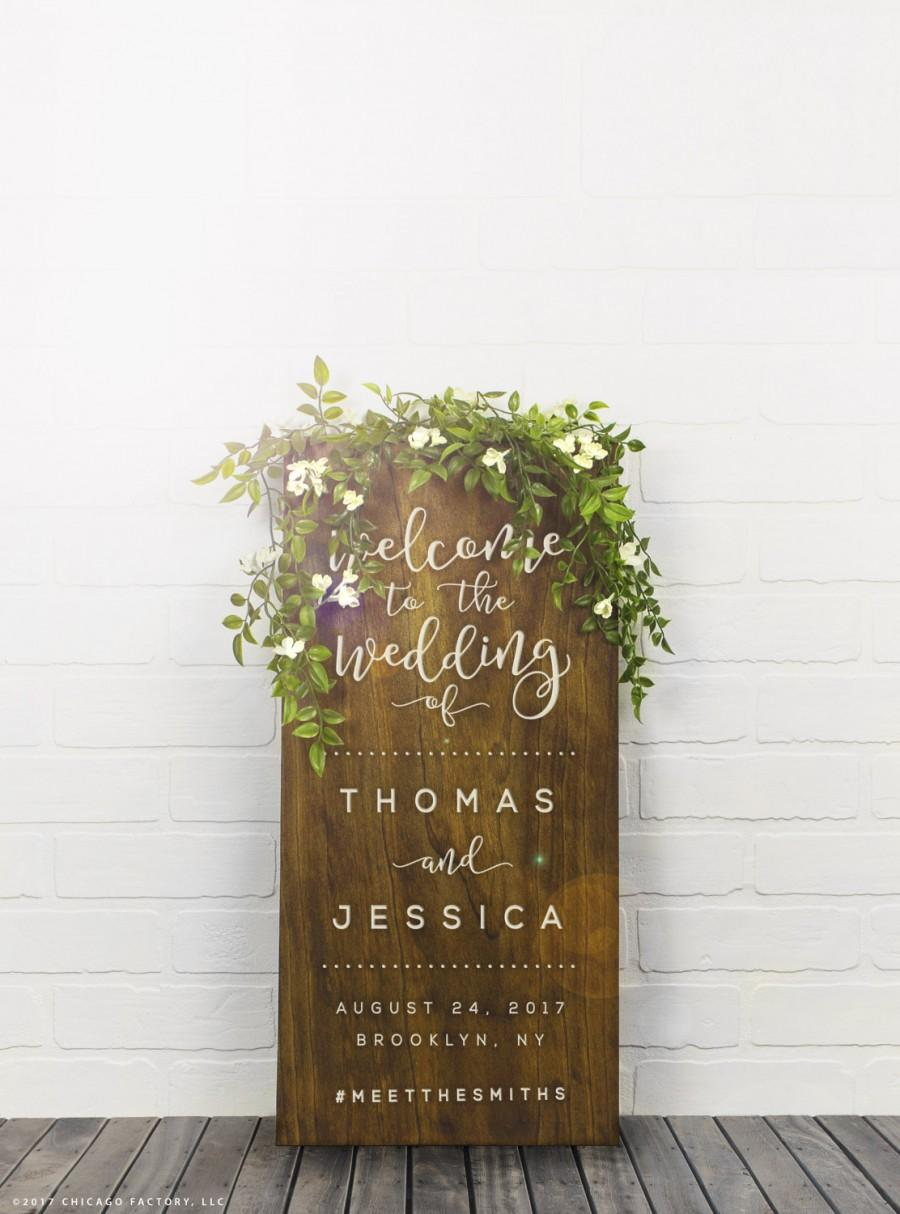 Welcome Wedding Sign Wood Wedding Sign Custom Wood Signs Rustic