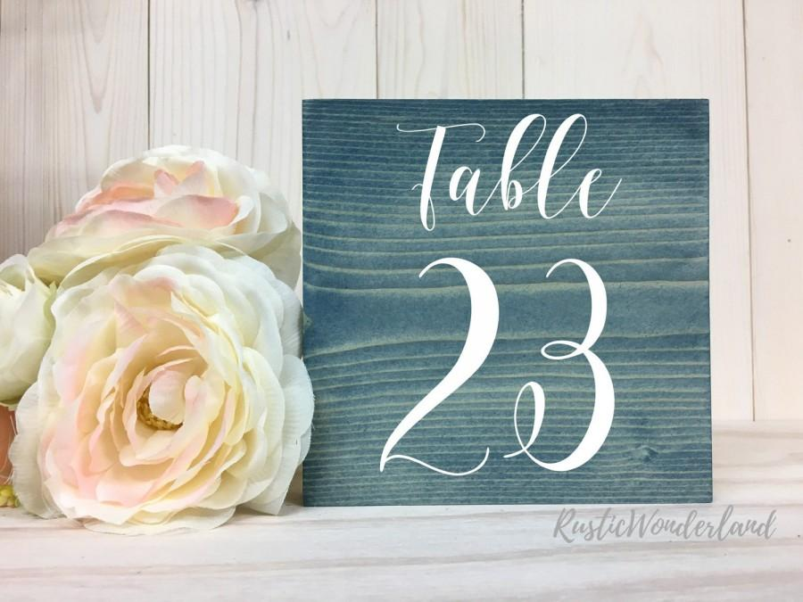 Wedding - Double Sided Table Numbers // Rustic Wedding Table Numbers // Wood Table Numbers // Wedding Decor // Summer Wedding // Block Table Numbers