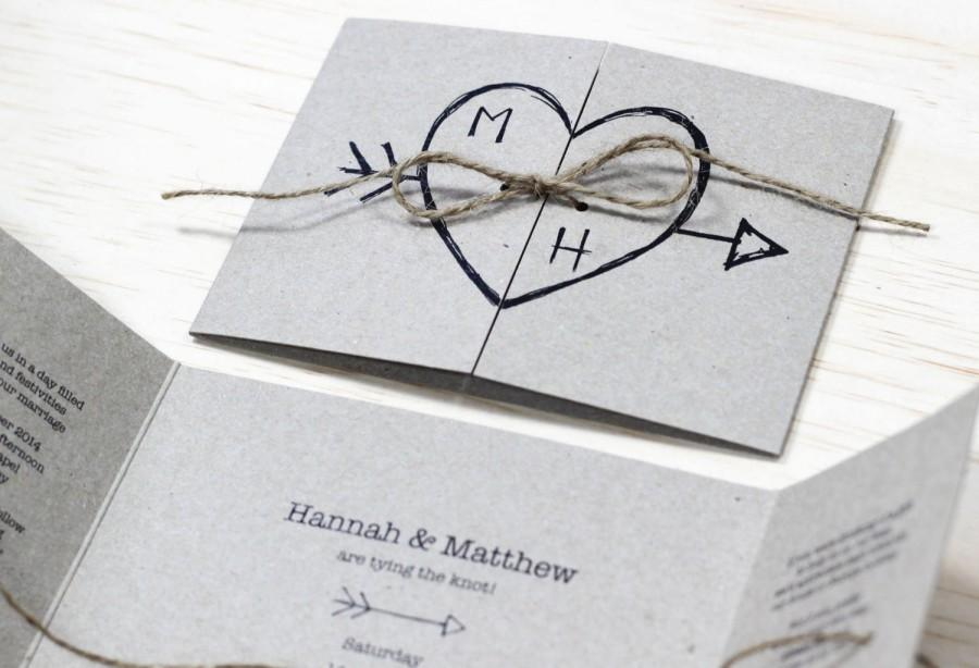 Hochzeit - Heart and Arrow Wedding Invitation