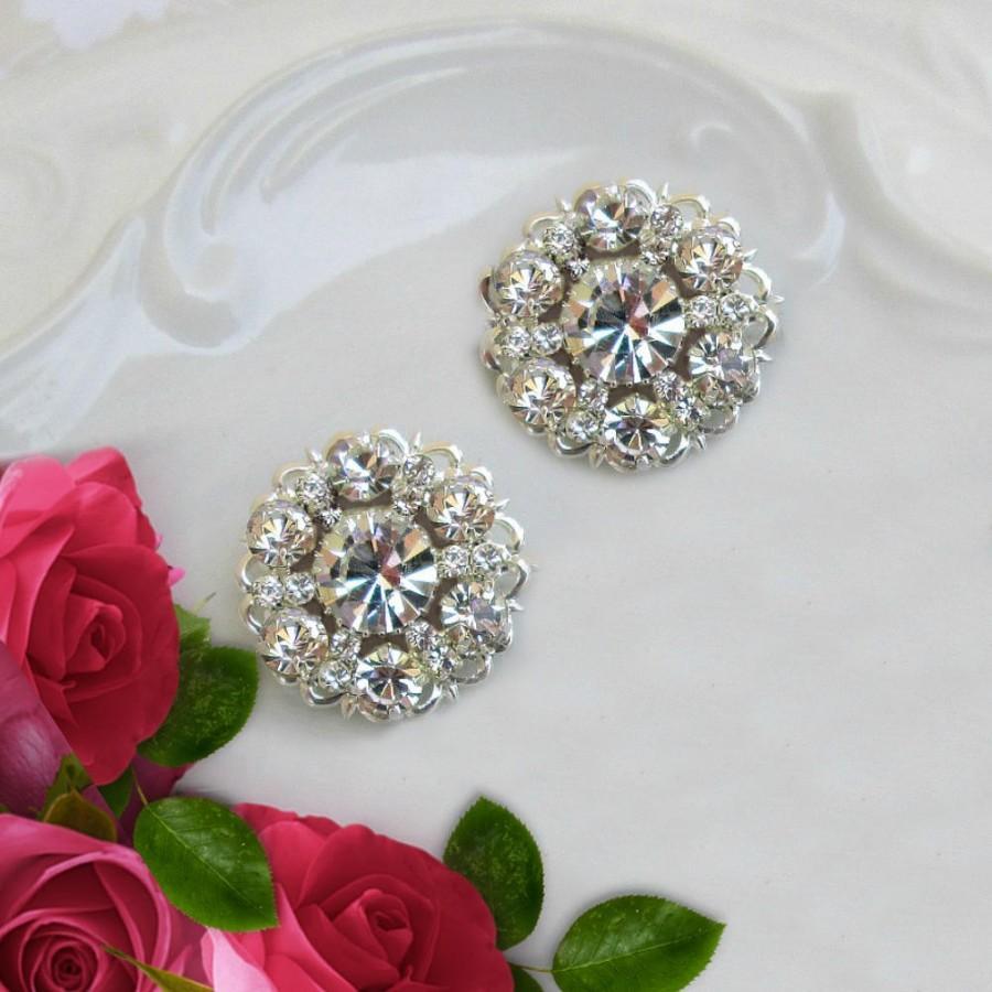 Hochzeit - Wedding Earrings, Crystal Post Earring, Bridesmaids jewelry, crystal stud earring, clear crystal, Bridesmaids earrings, Diamond Sparkle