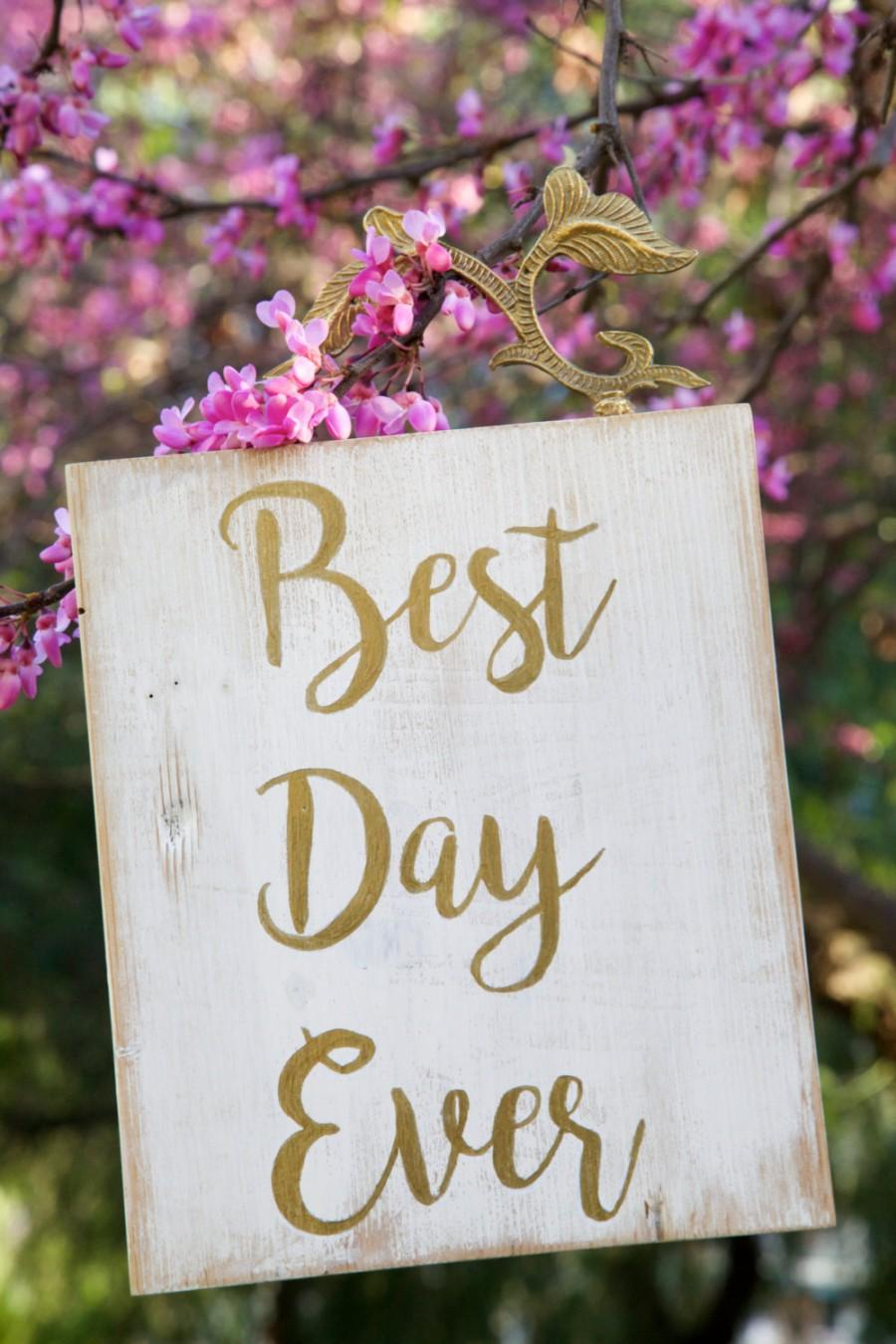 Sale best day ever wood sign wedding sign wall art for Best day for a wedding