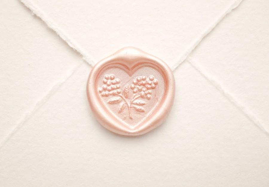 Heart Wax Seal, Wedding Seal, Vintage Shabby Elegance Wedding ...