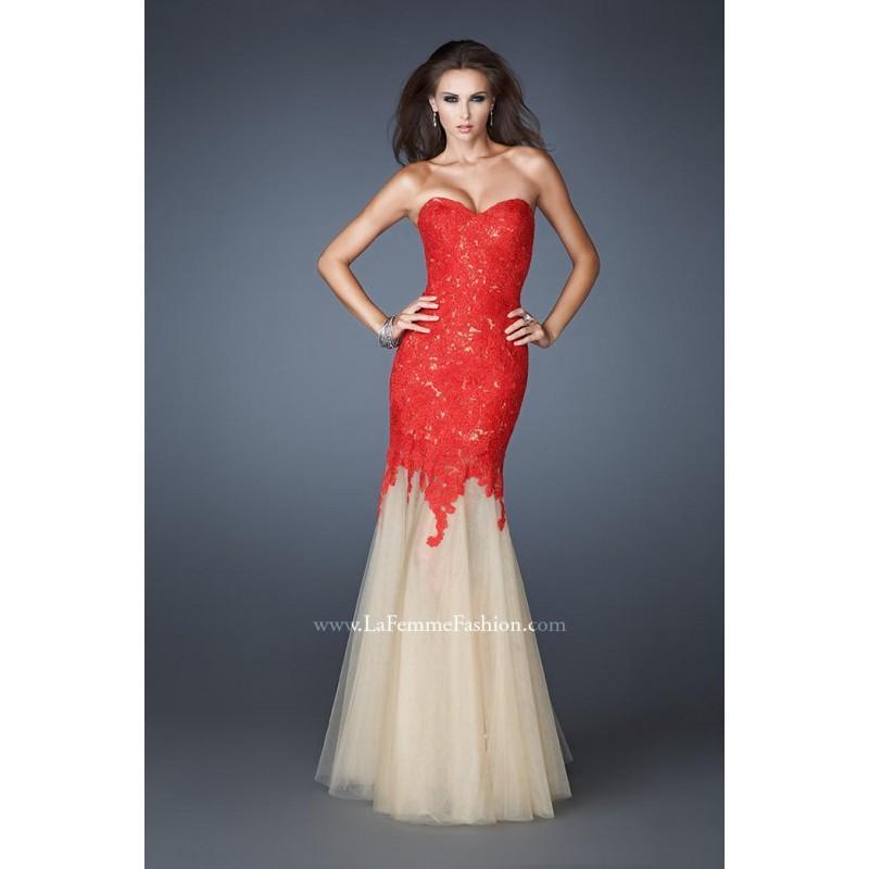 Hochzeit - Red La Femme Evening 18951  La Femme Evening - Elegant Evening Dresses