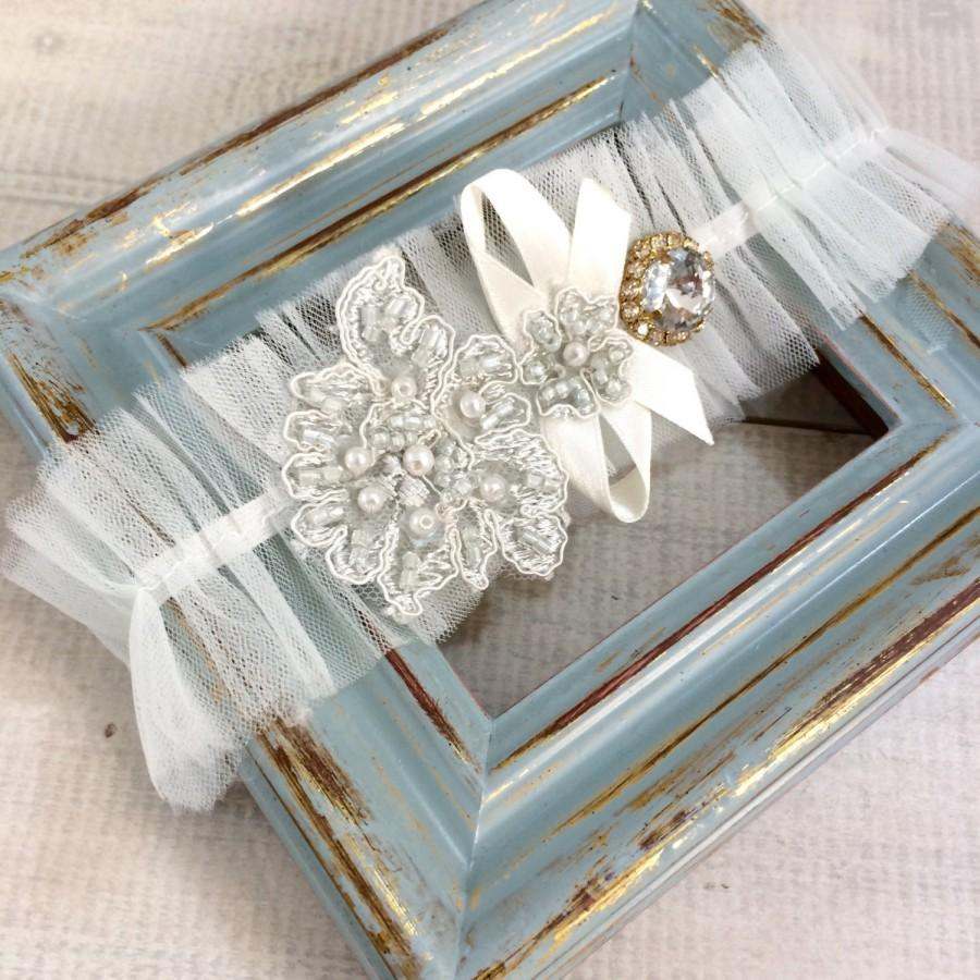 Свадьба - Lace Garter Belt, Sexy Wedding Garter, Rustic Garter, Wedding Accessory, Bridal Garter