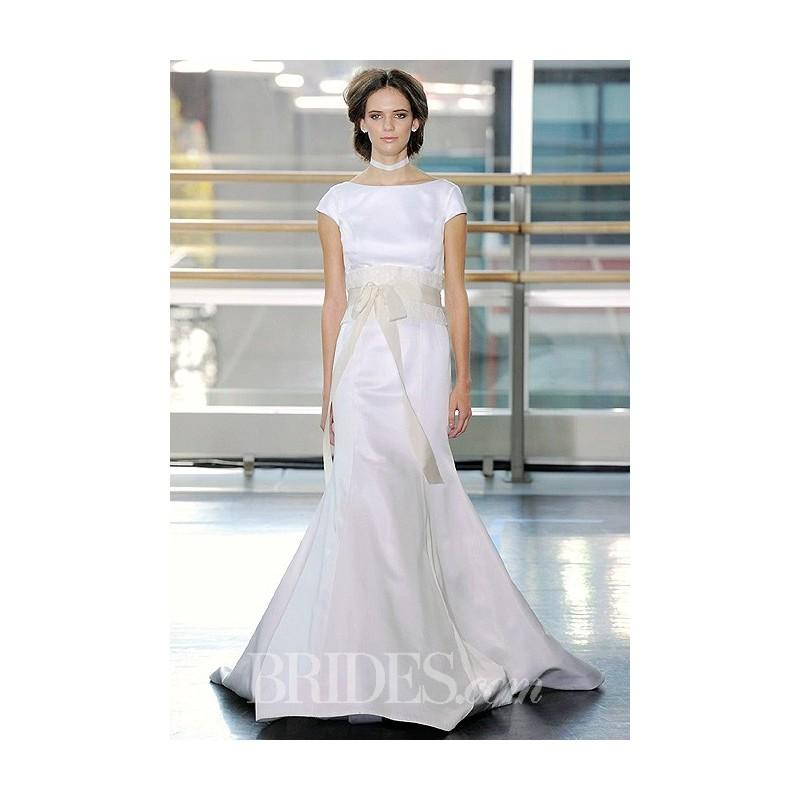 Wedding - Rivini - Fall 2014 - Silk Satin A-Line Wedding Dress with Cap Sleeve - Stunning Cheap Wedding Dresses