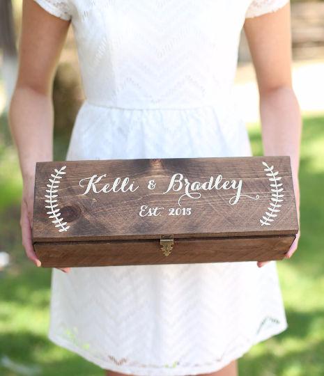 Personalized Wine Box Custom Keepsake Time Capsule Wedding Gift