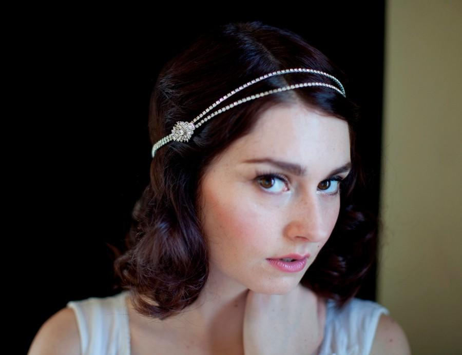 Mariage - Bohemian Headchain Bridal Headpiece. Art Deco Style Bridal Accessory.1920s Headpiece, Downton Abbey Style.Great Gasby Headpiece