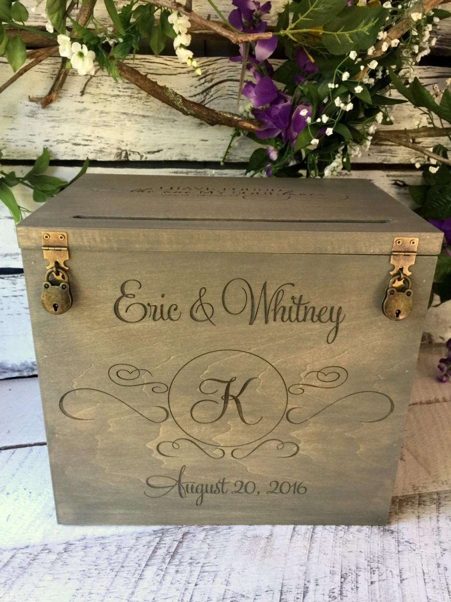 Wedding Card Box Rustic Wedding Gift Card Box Wedding Box Rustic