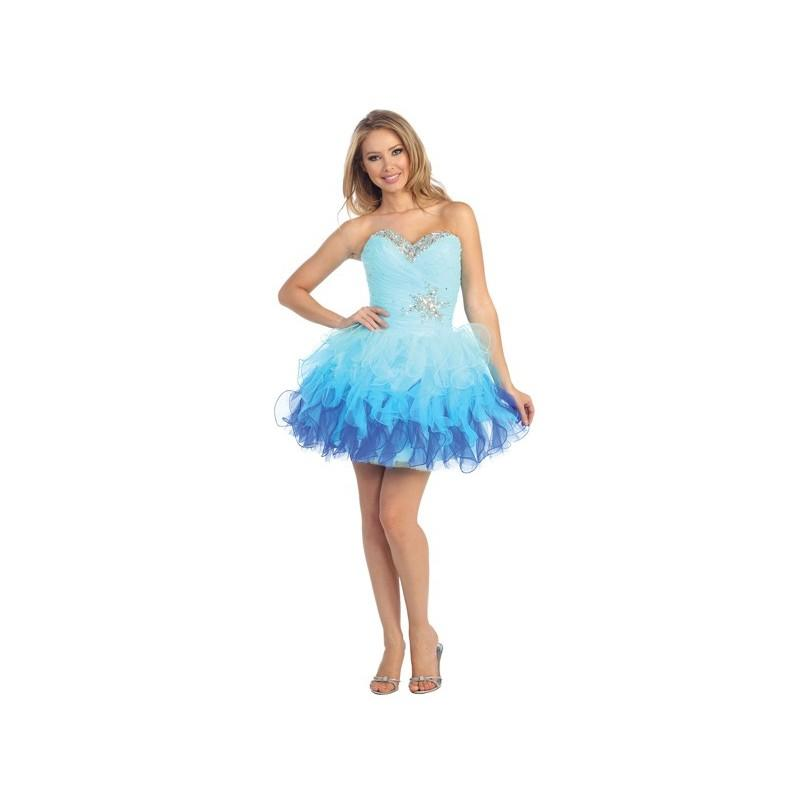 0af4fb8f6a Short Ombre Skirt Homecoming Dress In Aqua - Crazy Sale Bridal Dresses