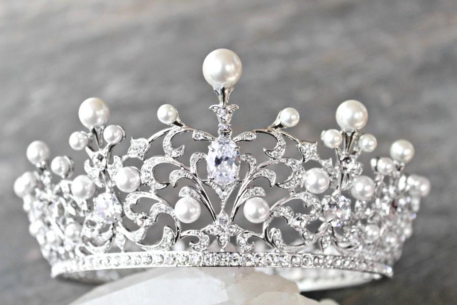 Wedding Crown Swarovski Crystal Wedding Crown Willa Silver Bridal