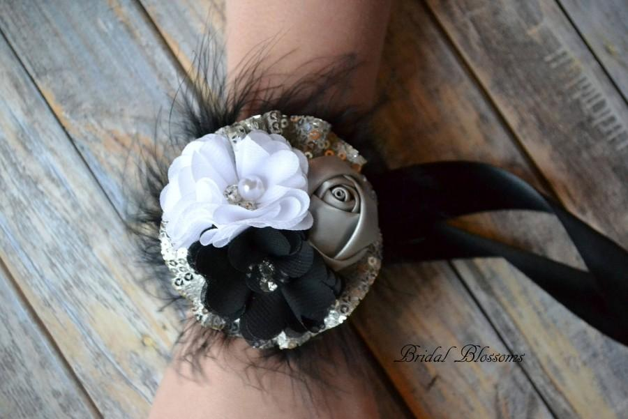 Mariage - Prom Wedding Chiffon Satin Flower Wrist Corsage & Boutonniere
