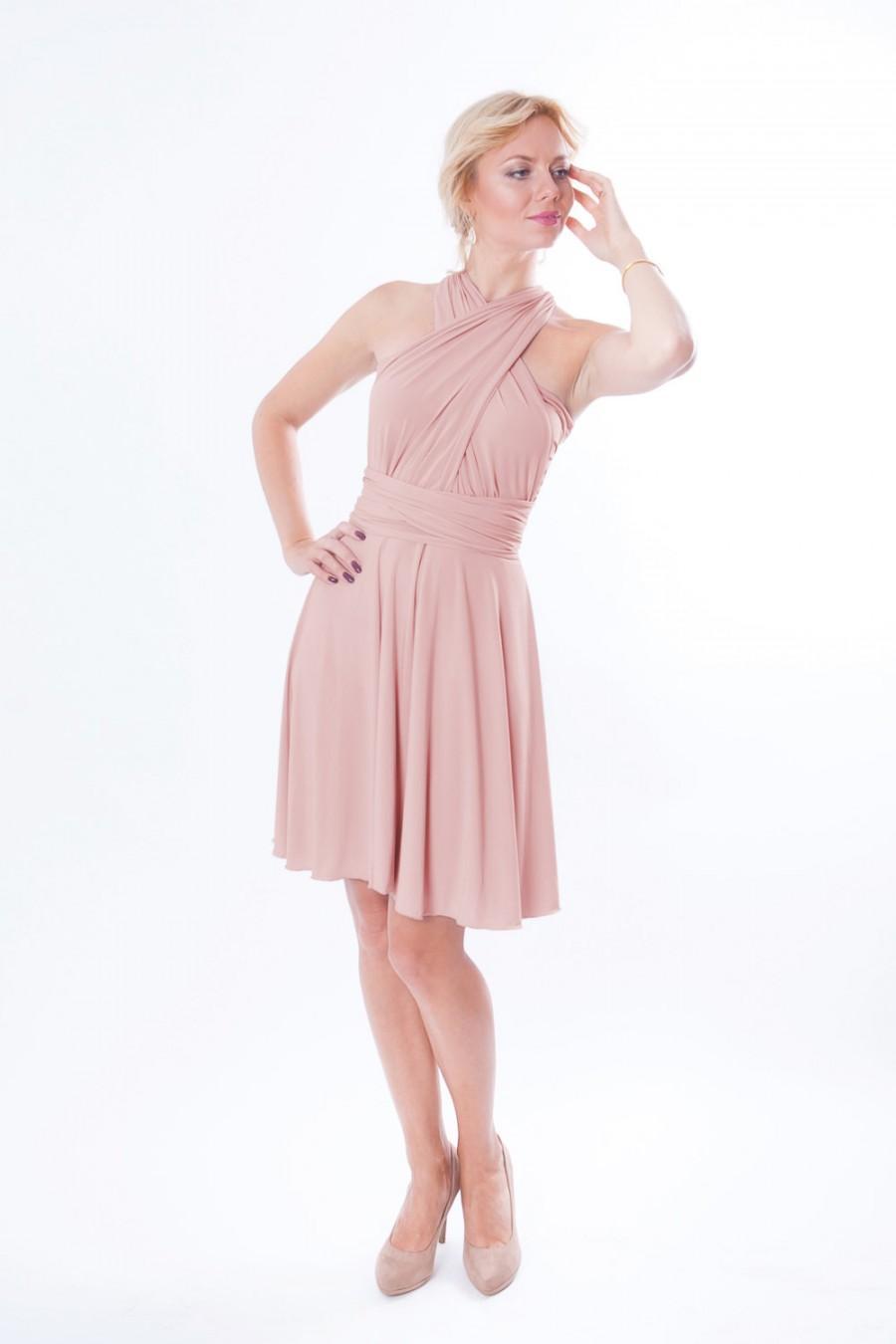Свадьба - Dusty pink short infinity dress  Convertible Dress Coctail dress