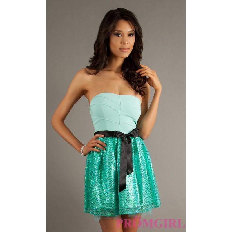 Short Strapless Party Dress By Ruby Rox