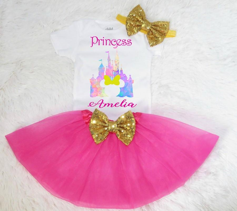 tutu outfit pink and gold birthday outfit first birthday 1st