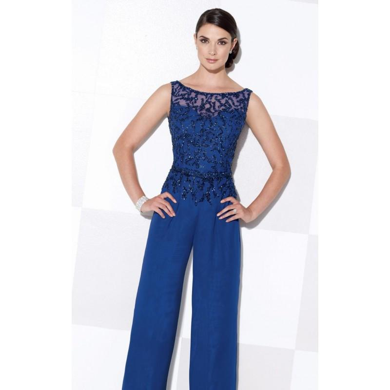 Wedding - Three Piece Pant Set by Cameron Blake 115620W - Bonny Evening Dresses Online