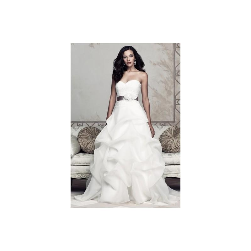 Wedding - Paloma Blanca 4351f - White Spring 2013 Paloma Blanca Ball Gown Full Length Sweetheart - Nonmiss One Wedding Store