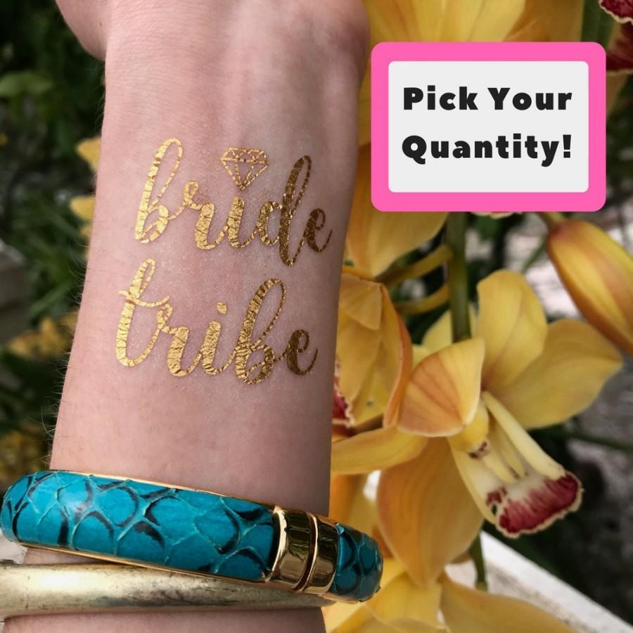 Mariage - Gold Metallic Bride Tribe Tattoo