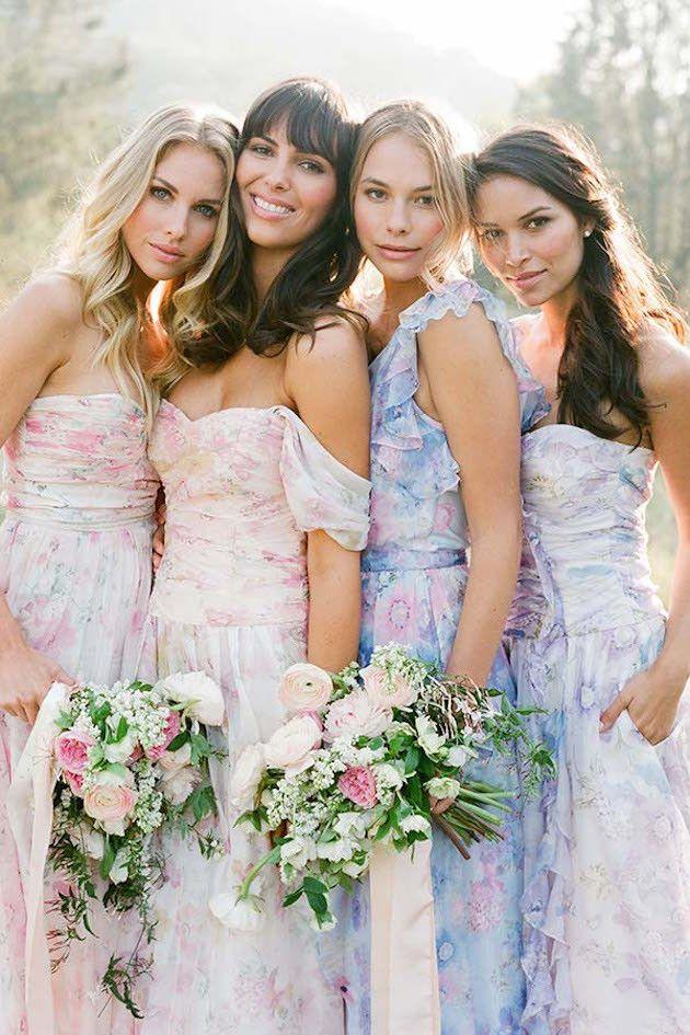 The Prettiest Mix Match Bridesmaids Dresses By Pps Couture