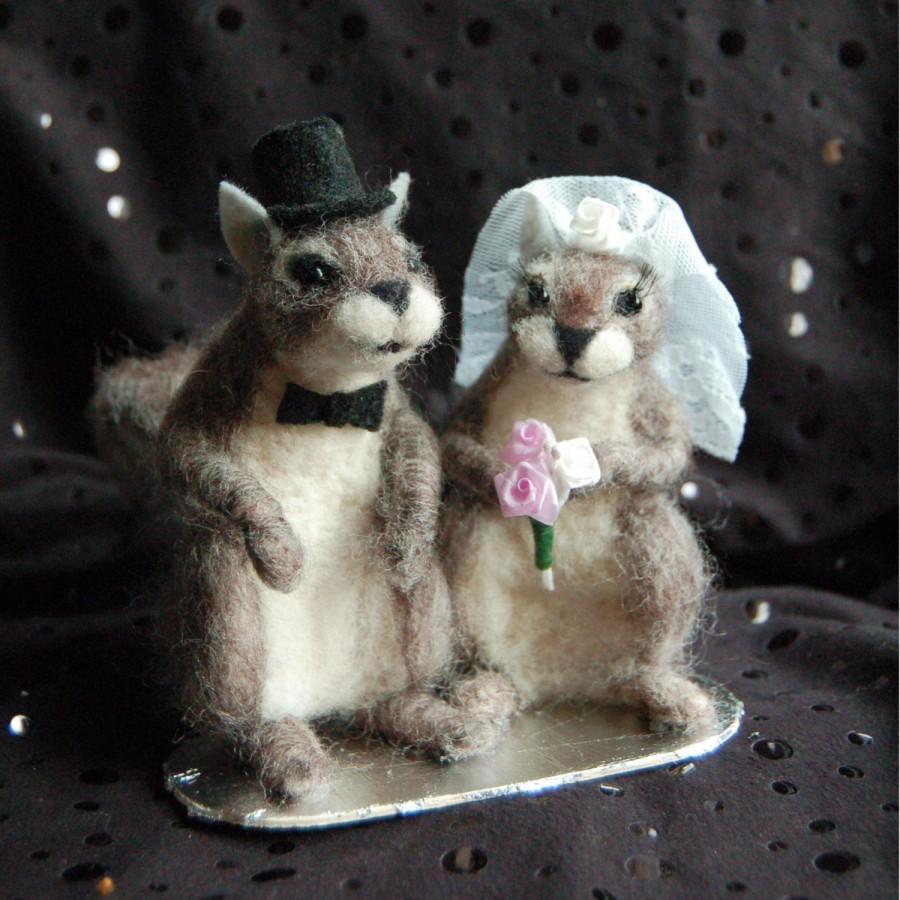 Mariage - Squirrel Wedding Cake Topper