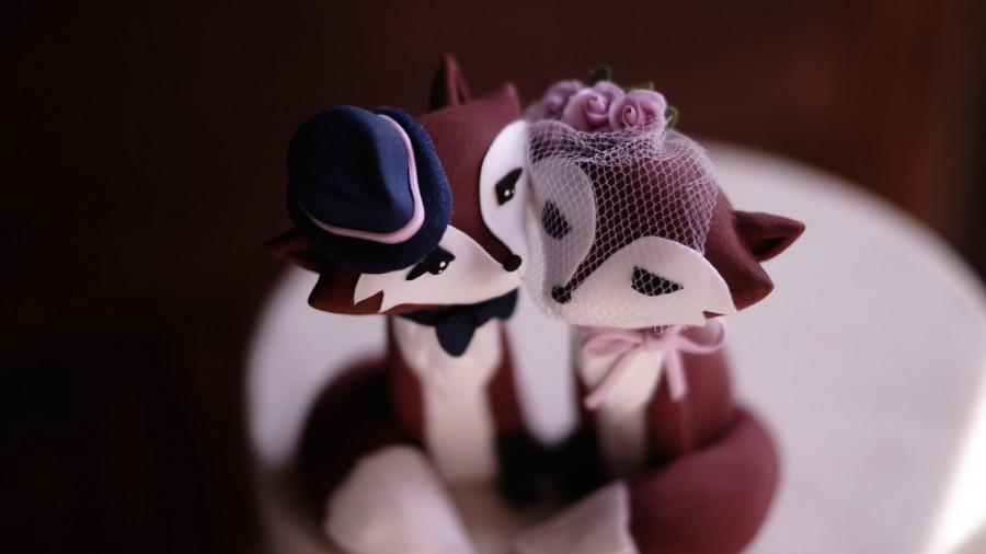 Свадьба - RED FOX Wedding Cake Topper - Warranty Protection Included