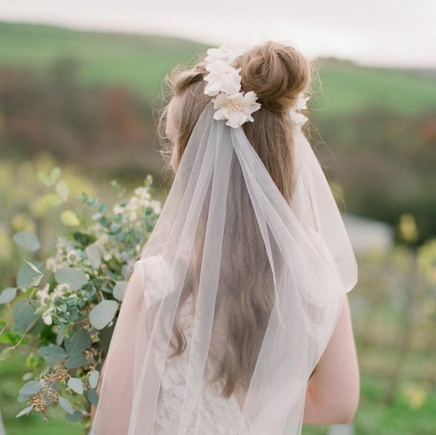 Mariage - Agnetha Tulle and Lace Motif Long Veil