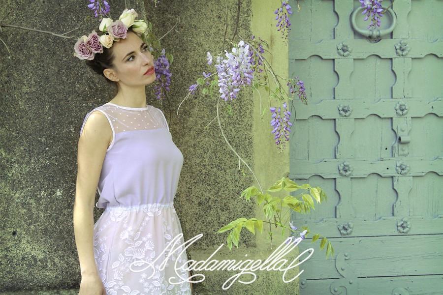 Mariage - PLUMETISSA, silk tulle embroidered dress