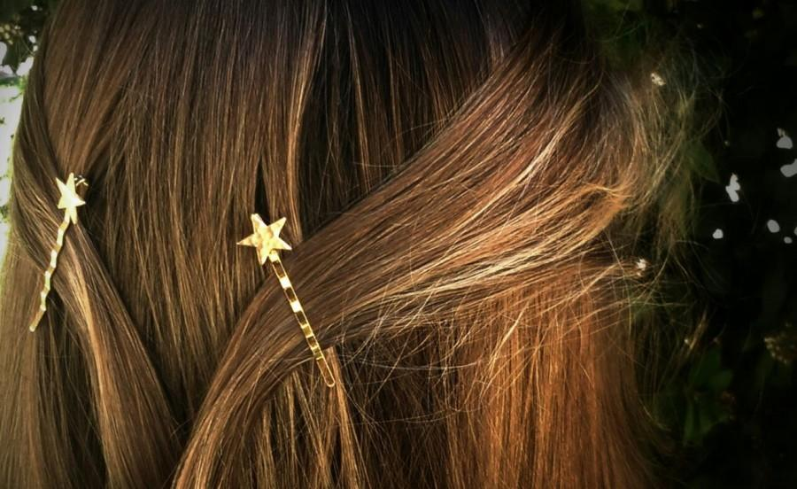 Wedding - Gold Star Bobby Pins Star Hair Pins Hair Clips Hair Accessories