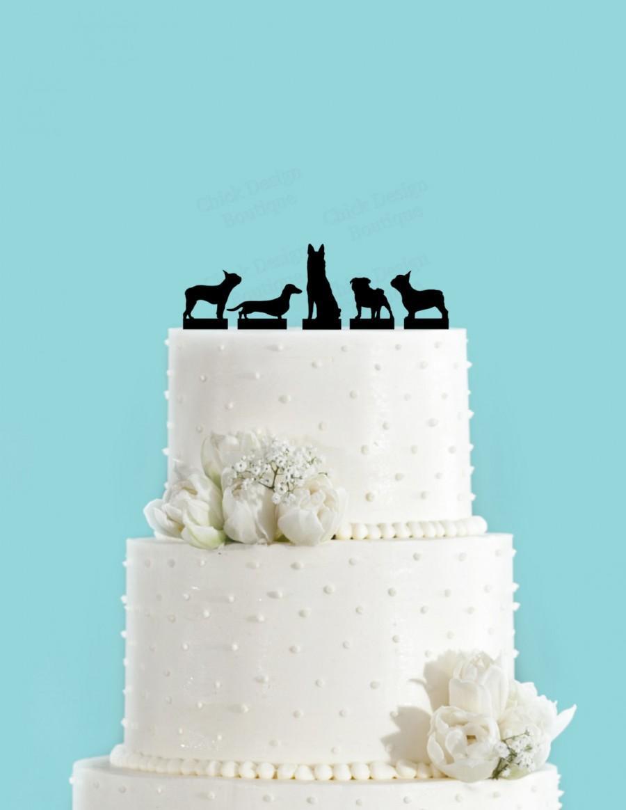 Mariage - Add a Dog Acrylic Wedding Cake Topper, Add a Pet Cake Topper