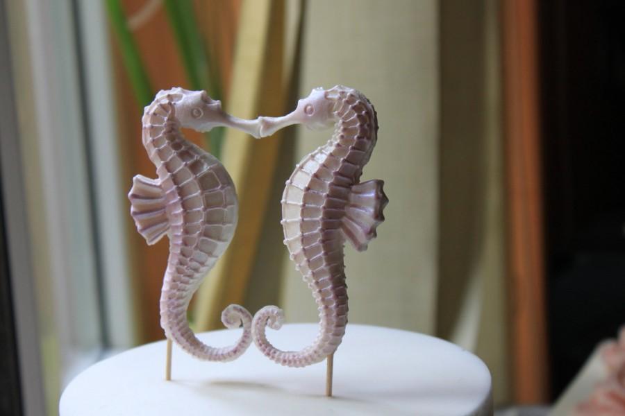Edible Seahorse, 2 Pieces (pair), Gumpaste Topper, Wedding Cake ...