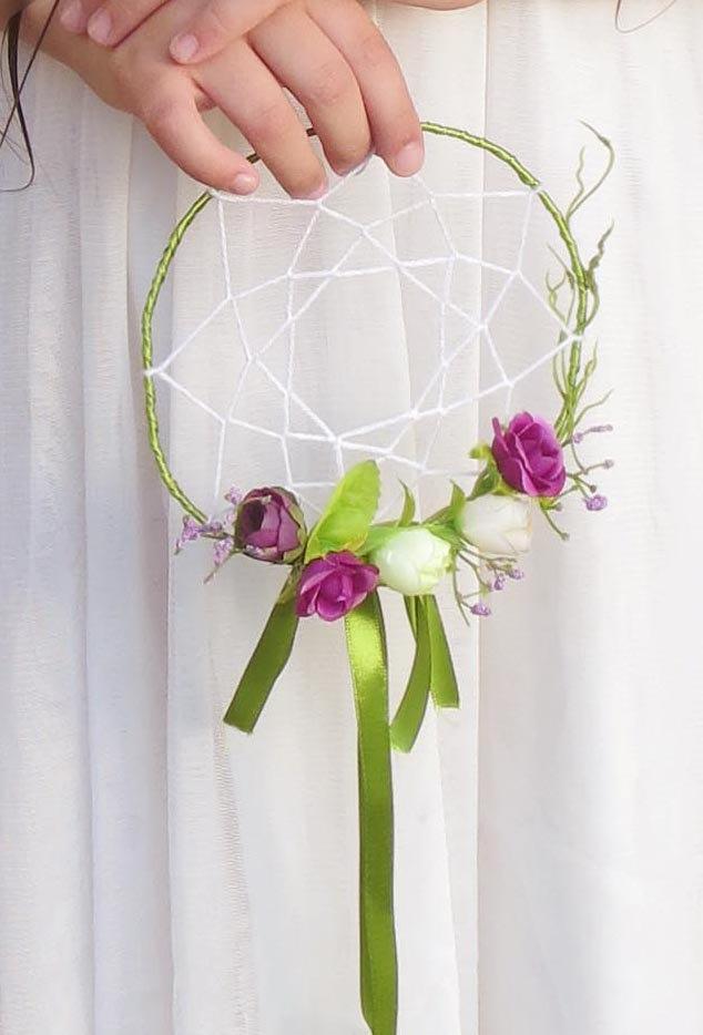 Mariage - Wedding dreamcatcher wreath or bouquet, Bohemian, Boho style wedding accessories.