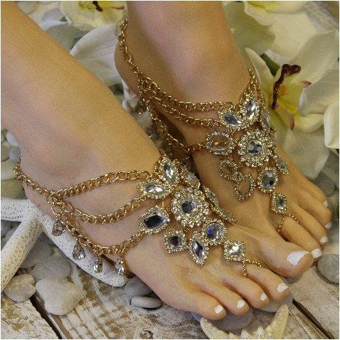 Wedding - GYPSY SOLE Barefoot Sandals - Gold