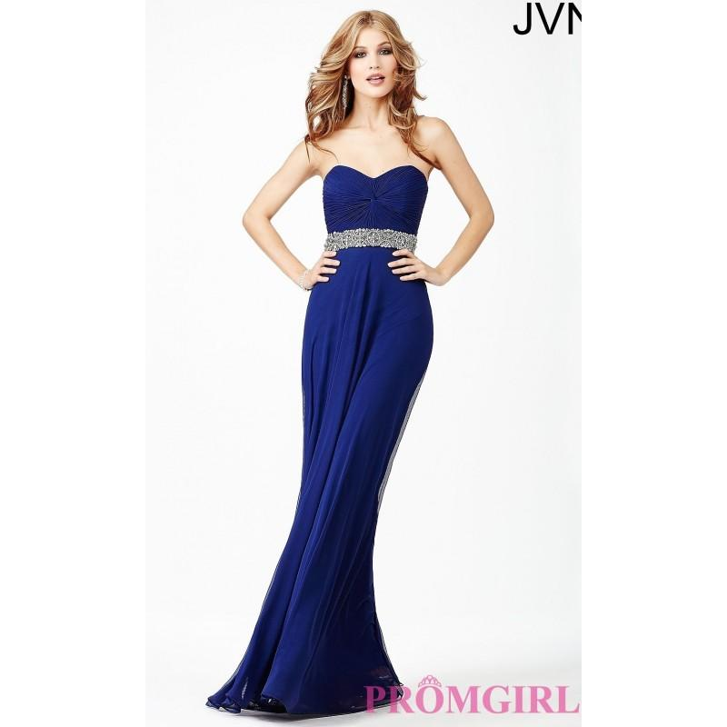 Wedding - Long Strapless Sweetheart Dress JVN27139 from JVN by Jovani - Discount Evening Dresses