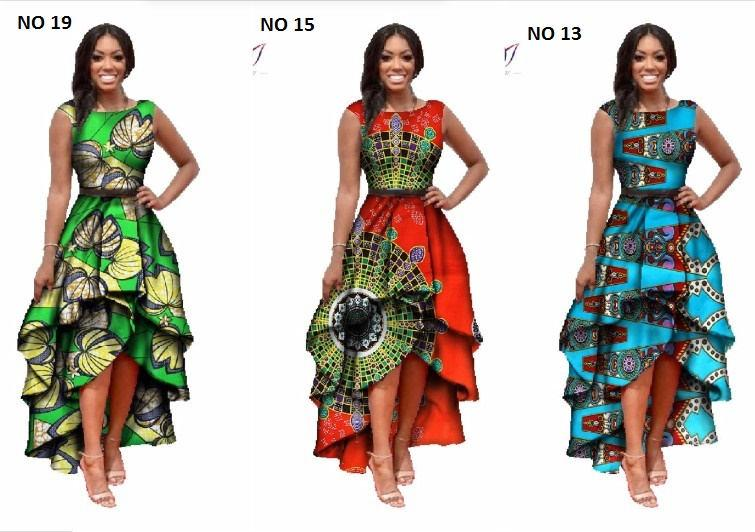 زفاف - African Print  o-neck Dress Dashiki For Women, Dashiki Dress, African Dress, African Styles,African fashion,African Fabric,African Clothing