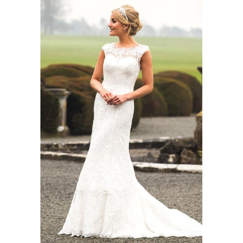 Mariage - Style C17100 by Special Day Claddagh Collection - Ivory  White Lace Illusion back Floor High Column Wedding Dresses - Bridesmaid Dress Online Shop