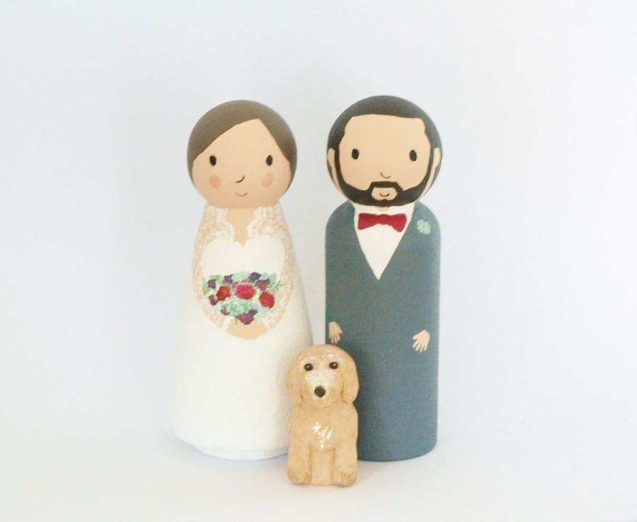 Wedding Cake Topper With Dog Or Cat