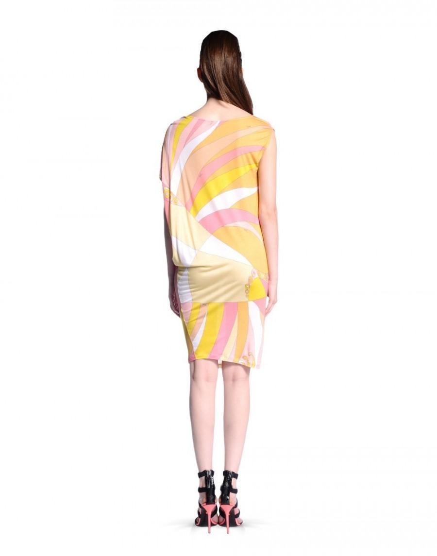 Mariage - Emilio Pucci Multicolor Print Cap Sleeve Mini Dress Pink
