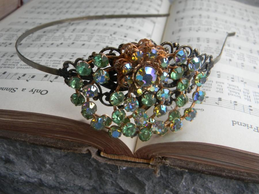 Boda - Irish Weddings Hair Accessories Headbands Christmas Hair Vintage Victorian, Rhinestone Headband, Bridal Hair Piece, Wedding Headband Collage