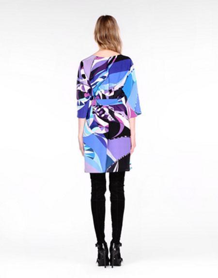 Wedding - Emilio Pucci Astana Print Multicolor Stretch Silk Mini Dress