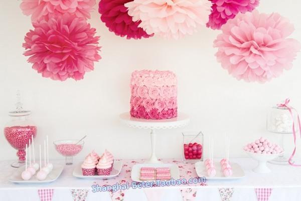 زفاف - Beter Gifts® Tissue Pom Flower BETER-ZH037 #DIYPartyDecoration #BridalShower #BirthdayDecor #diypartydecor #diyweddingdecor #babyshower