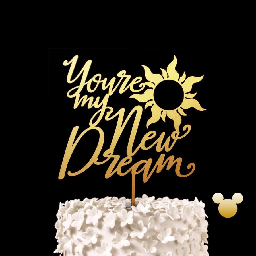 Свадьба - You're my New Dream Disney Wedding Cake Topper -  Tangled Disney Princess Keepsake Wedding Cake Toppers