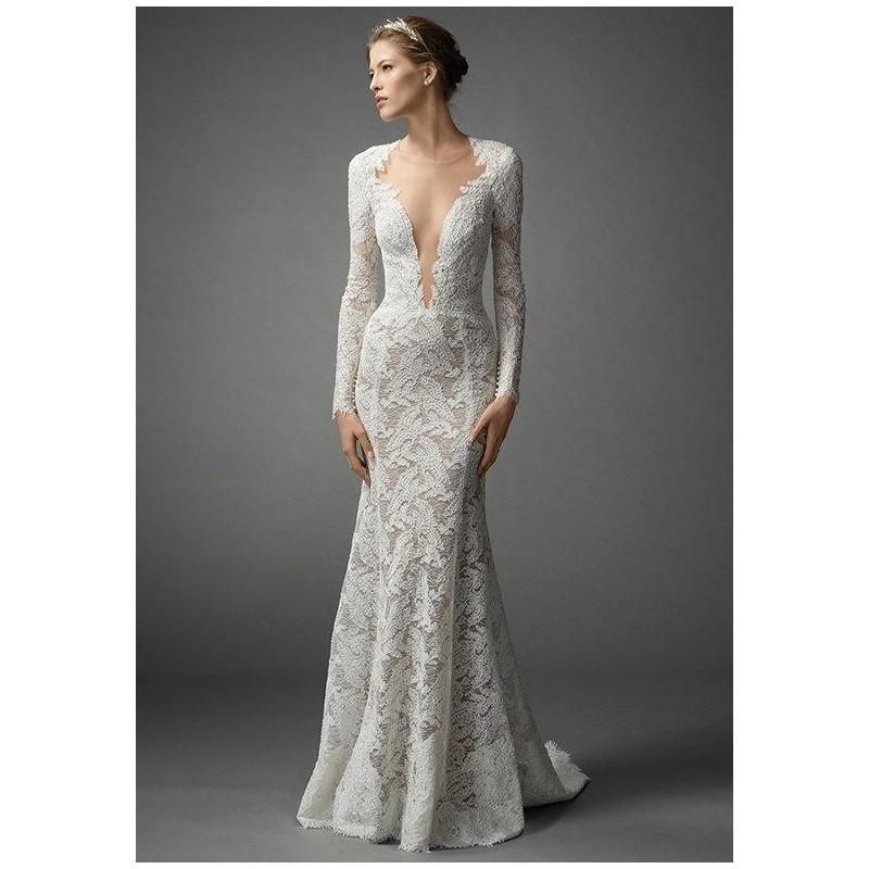 The Knot Wedding Gowns: Watters Brides Aziza 7054B Wedding Dress