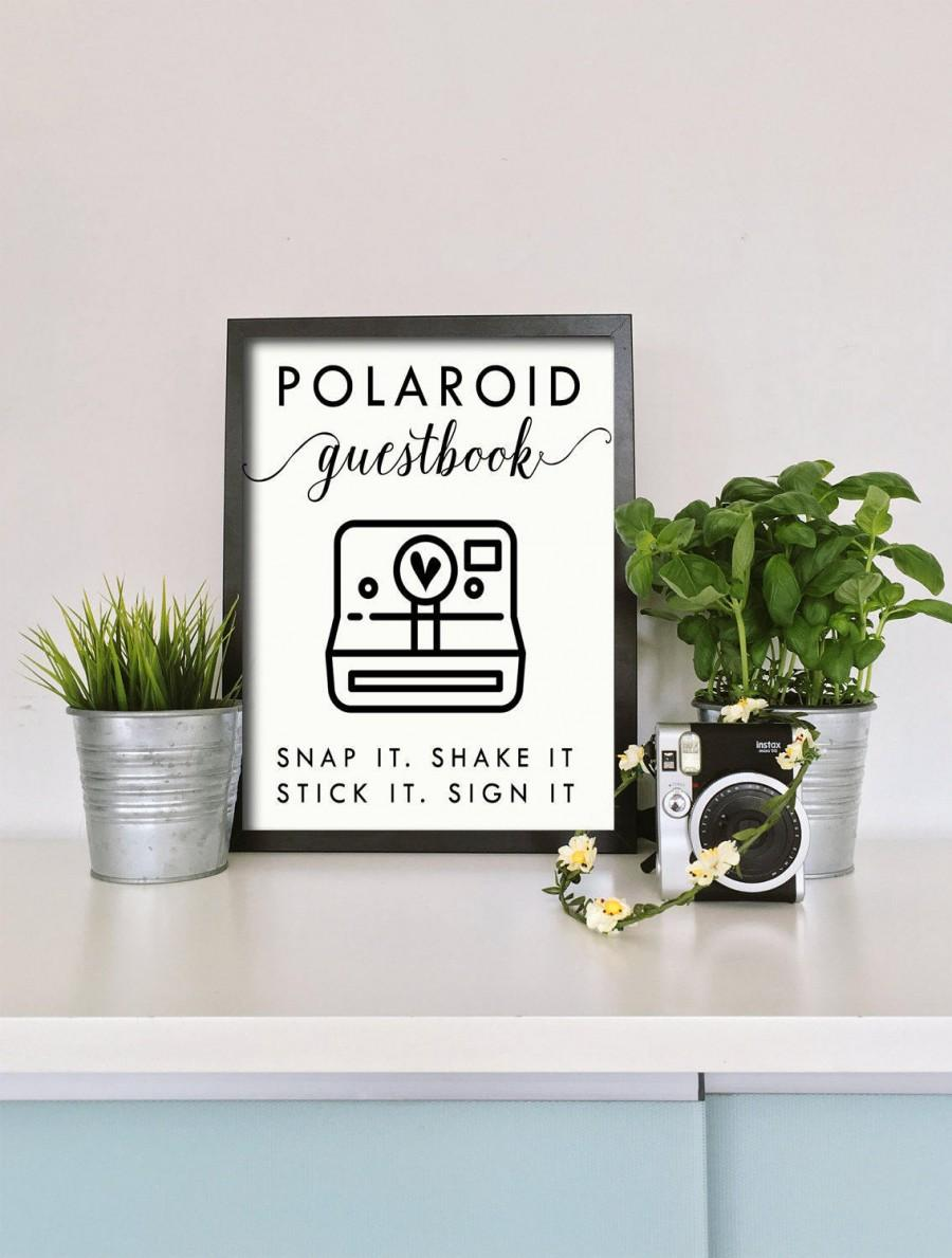 Свадьба - Polaroid Guest Book Sign - Wedding Guest Book Sign - Digital download  - STICK IT