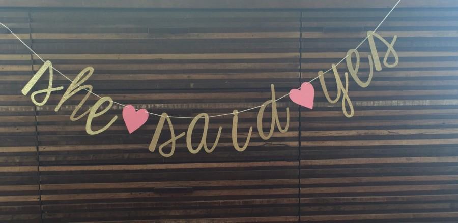 Hochzeit - She Said Yes Banner
