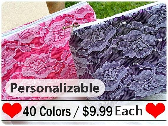 Свадьба - Color of choice bridesmaid clutch purse, will you be my bridesmaid gift, bridesmaid clutch gift, pastel bridesmaid gift, bridesmaid gift set