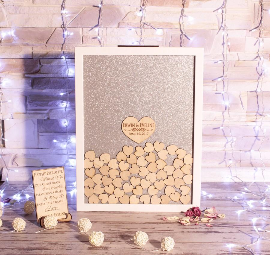 Wedding - Wedding Guest Book Wedding Guest Book Alternative Drop Box Guest Book Personalised Wedding Wedding guestbook Personalised gift Wedding gift